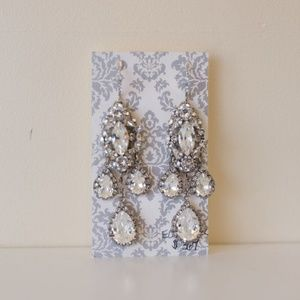 Haute Bride Statement Chandelier Earrings